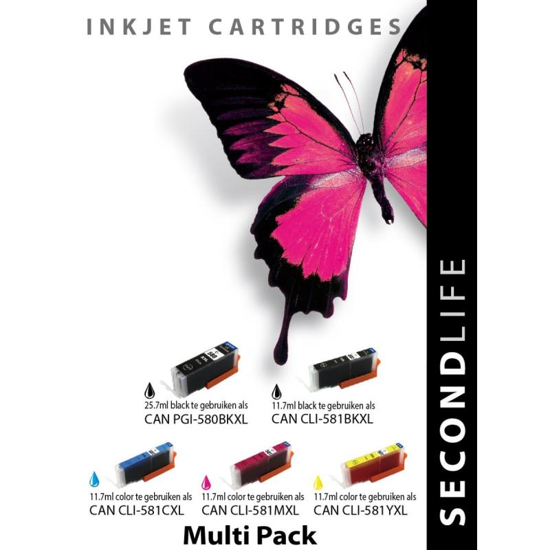 SecondLife – Multipack Canon 580/581 serie